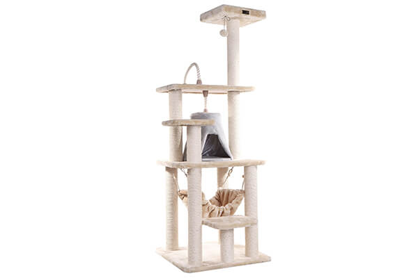 Armarkat cat tree furniture condo height 60 inch to 70 inch