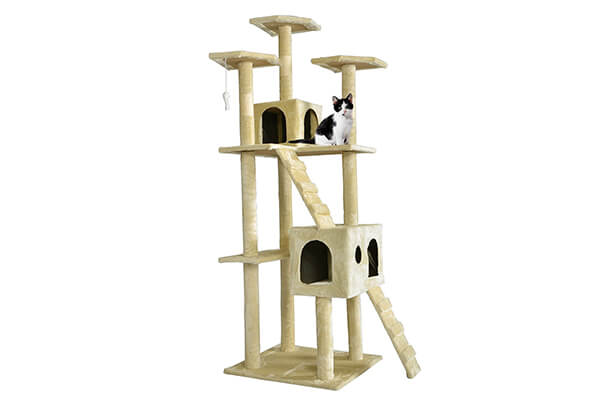 """Best pet 73"""" cat tree scratcher play house condo furniture bed post pet house"""