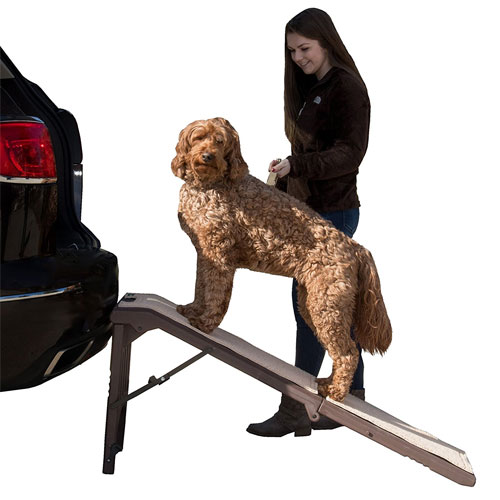Pet Gear Free Standing Ramp for Cats and Dogs. Great for SUV's or use Next to your Bed