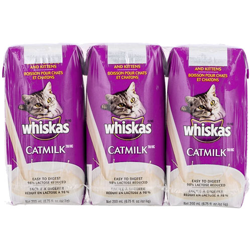 Whiskas Catmilk for Cats and Kittens - 6.75 fl oz. - 3ct