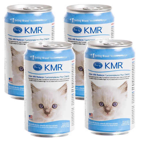 (4-Pack) KMR Liquid Milk Replacer for Kittens and Cats, 8-Ounce Cans