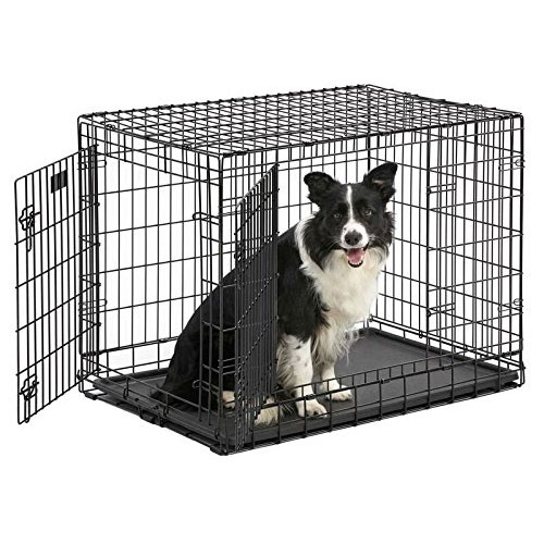 Ulitma Pro (Professional Series & Most Durable Midwest Dog Crate) Extra-Strong Double Door Folding Metal Dog Crate