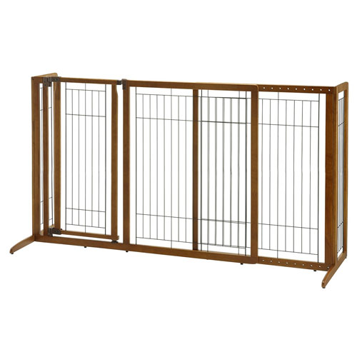 Richell Deluxe Freestanding Pet Gate with Door, Large