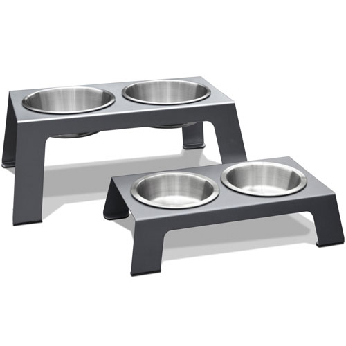 PetFusion Elevated Pet Feeder in Premium Anodized Aluminum