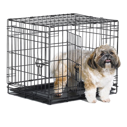New World Folding Metal Dog Crate; Single Door & Double Door Dog Crates