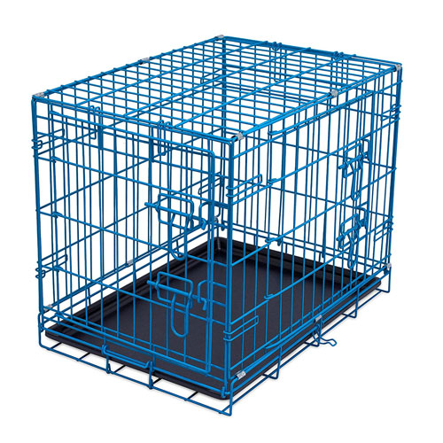 Internet's Best Wire Dog Kennel | Double Door Metal Steel Crates | Indoor Outdoor Pet Home | Folding and Collapsible Cage