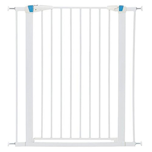 "MidWest Homes for Pets Walk-Thru Steel Pet Gate w/ ""Safety Glow"" Frame; 29"" & 39"" Tall Pet Gates in Soft White & Textured Graphite"
