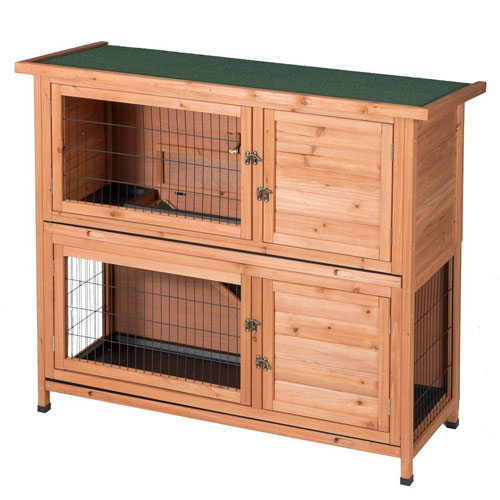 GOOD LIFE Two Floors Wooden Bunny Hutch Rabbit Cage Guinea Pig Coop PET House PET383