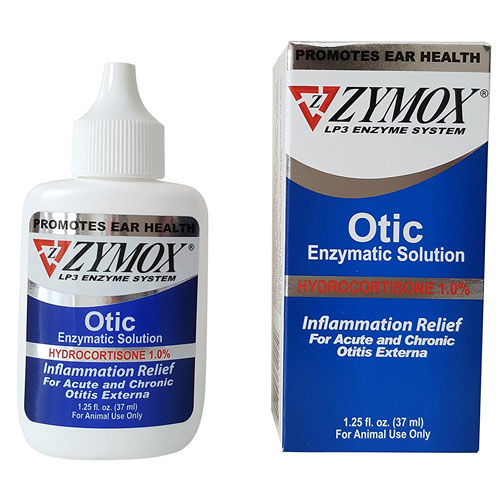 Pet King Brand Zymox Otic Pet Ear Treatment with Hydrocortisone