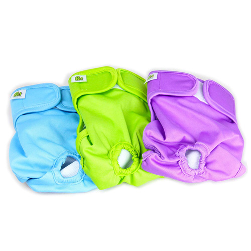 Luxury Reusable Dog Diapers (3-Pack) - Durable Dog Wraps for Male and Female Pets by Pet Magasin