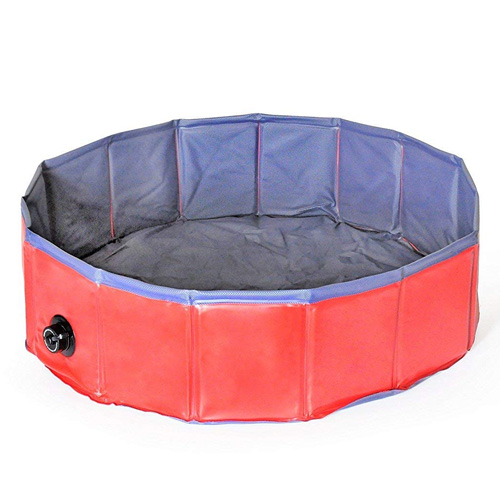 "Dog Bath Tub, Splash Swim Pool Large 62"" Round Foldable Dog Pool"