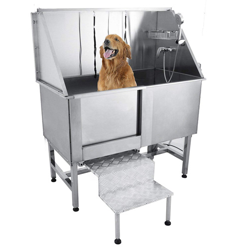"""Happybuy 50"""" Professional Stainless Steel Pet Dog Grooming Bath Tub with Faucet"""
