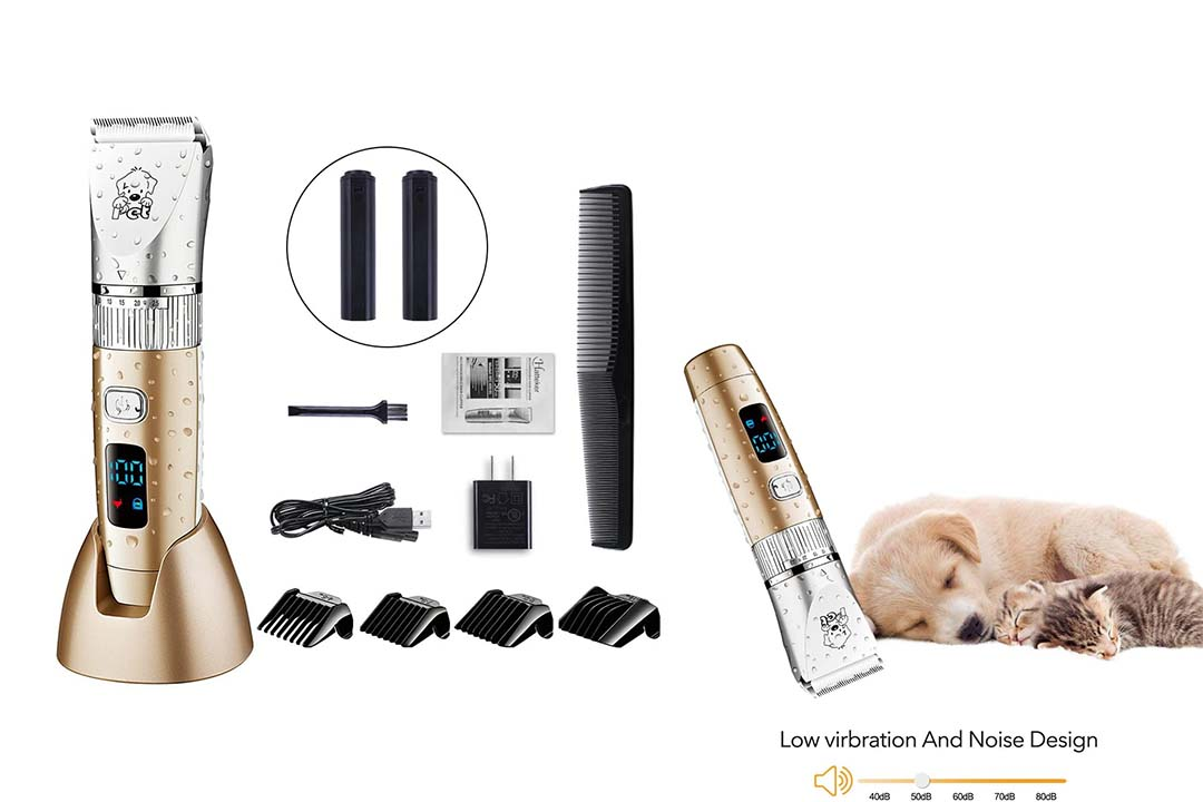 HATTEKER Dog Grooming Clippers Cordless Pet Hair Clippers Trimmer Grooming Kit