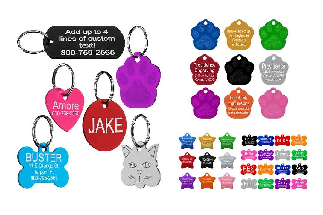 Leash Boss Pet ID Tag for Cat and Dog Collars