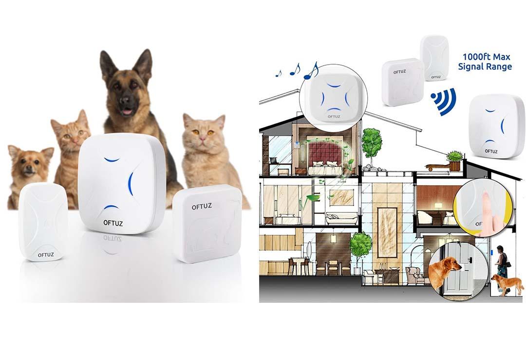 OFTUZ Wireless Doorbell Kit, Waterproof Dog Doorbell