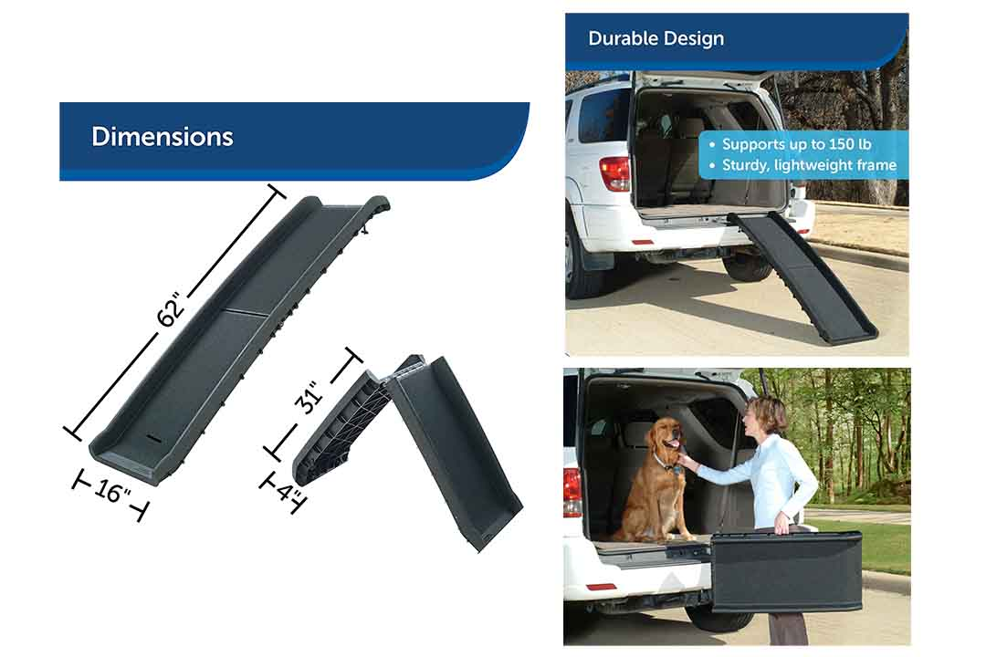 PetSafe Solvit UltraLite Bi-Fold Pet Ramp