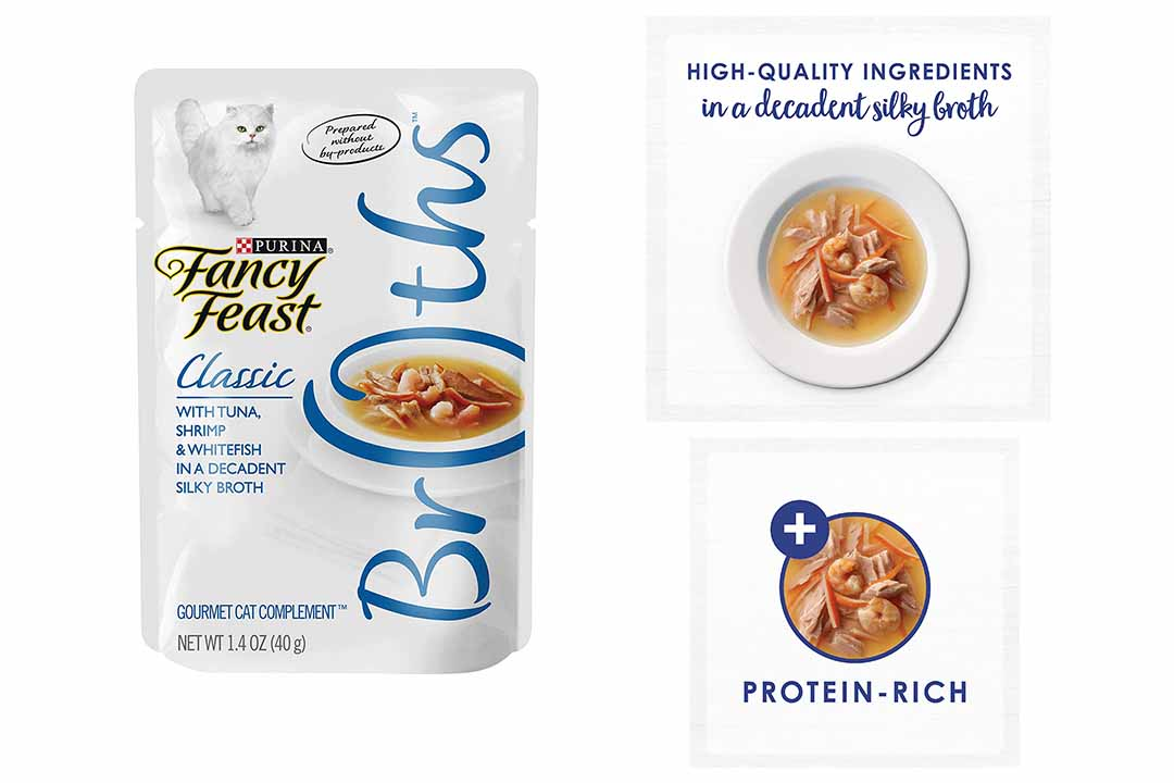 Purina Fancy Feast Broths Classic Gourmet Cat Complement Multipack