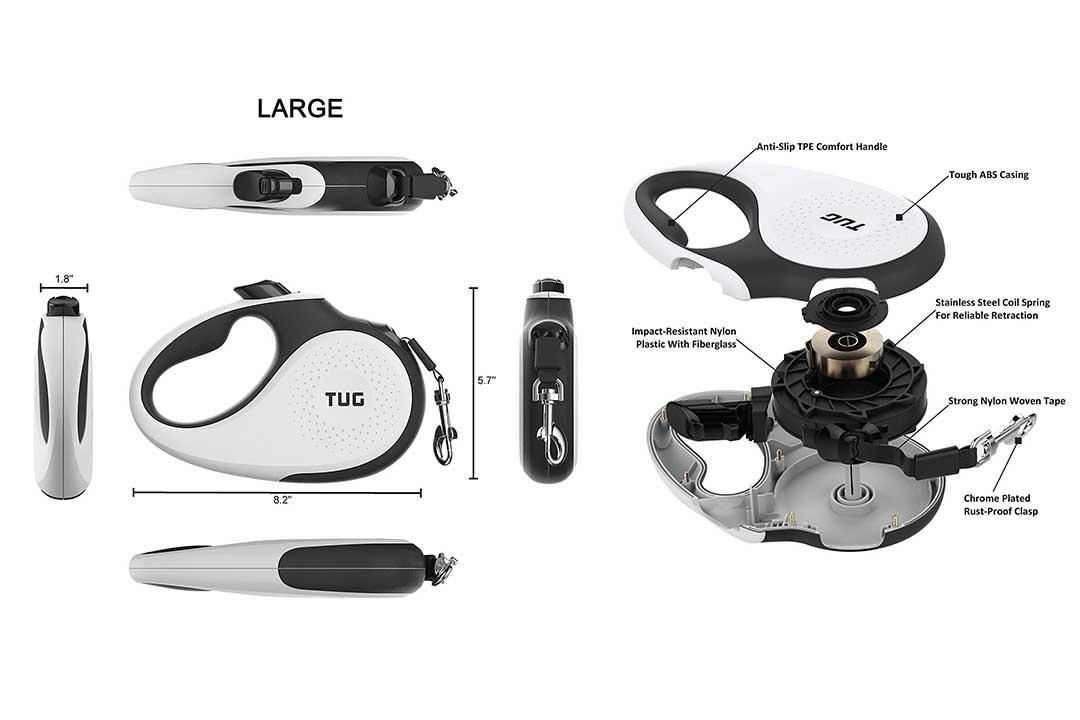TUG Patented 360° Tangle-Free