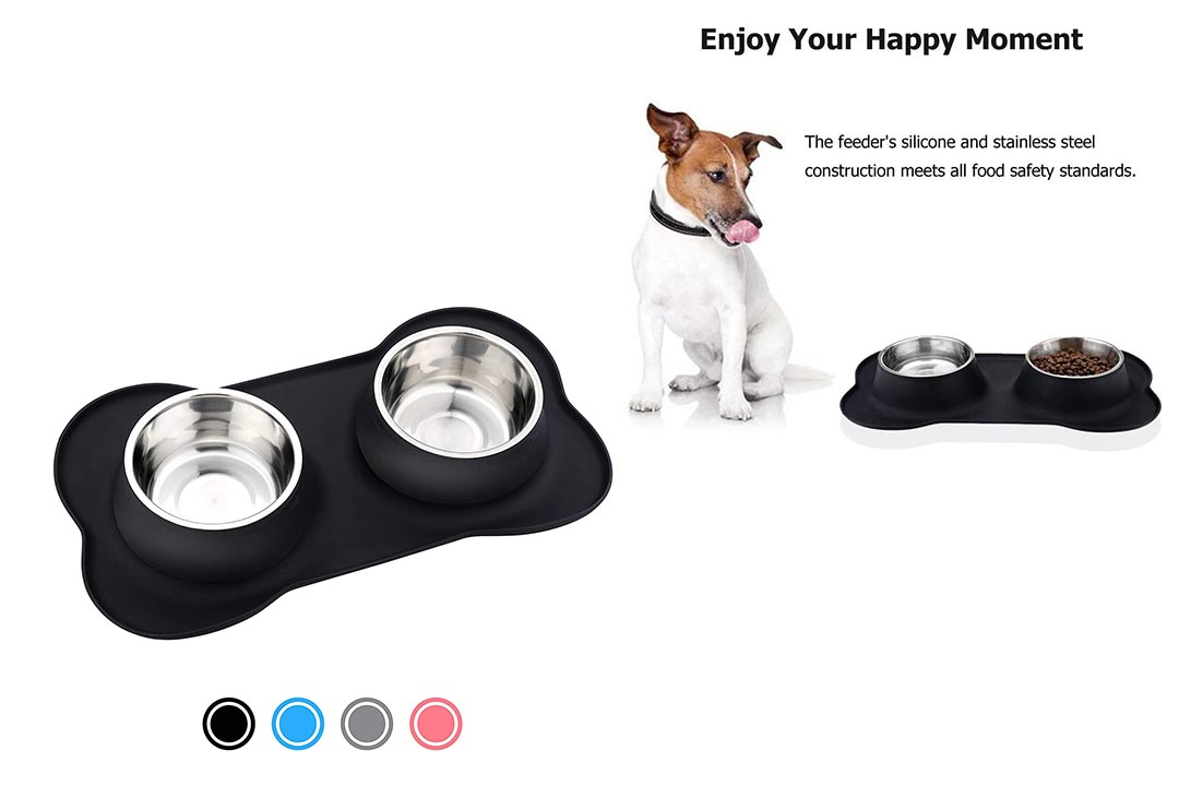 URPOWER Dog Bowls Stainless Steel Dog Bowl