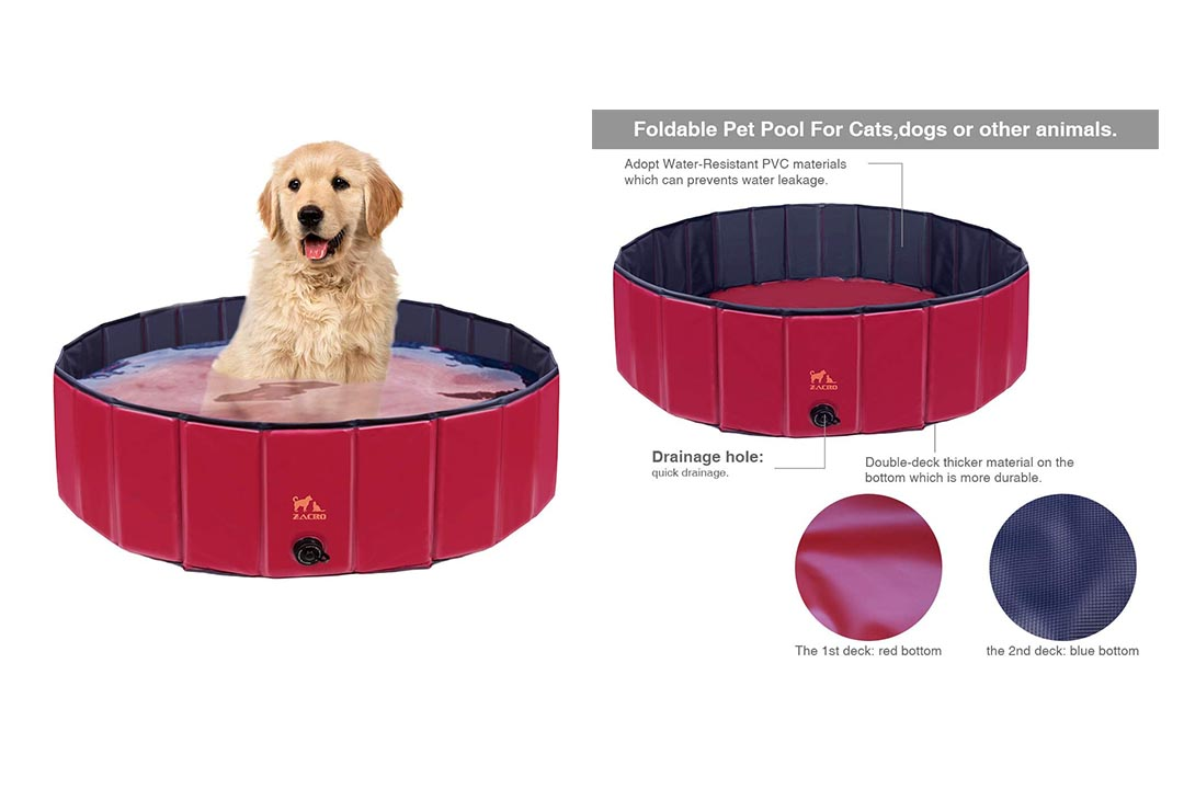 Zacro Foldable Large Dog Pool