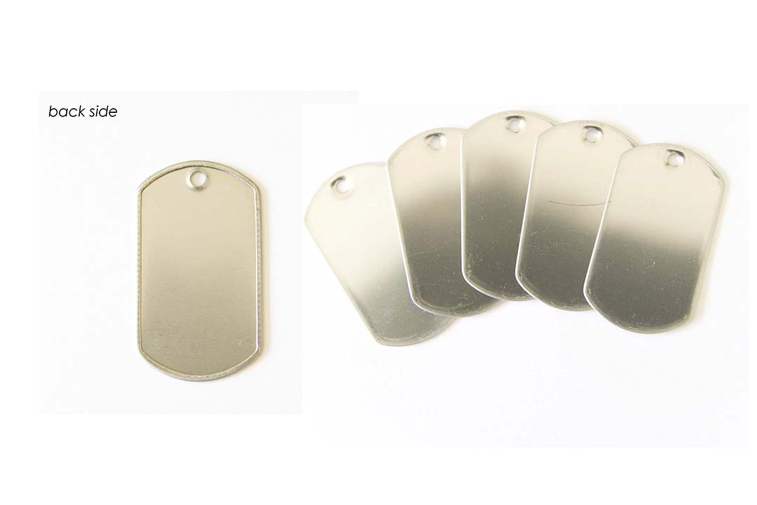 100 Shiny Stainless Steel Military spec Dog Tags