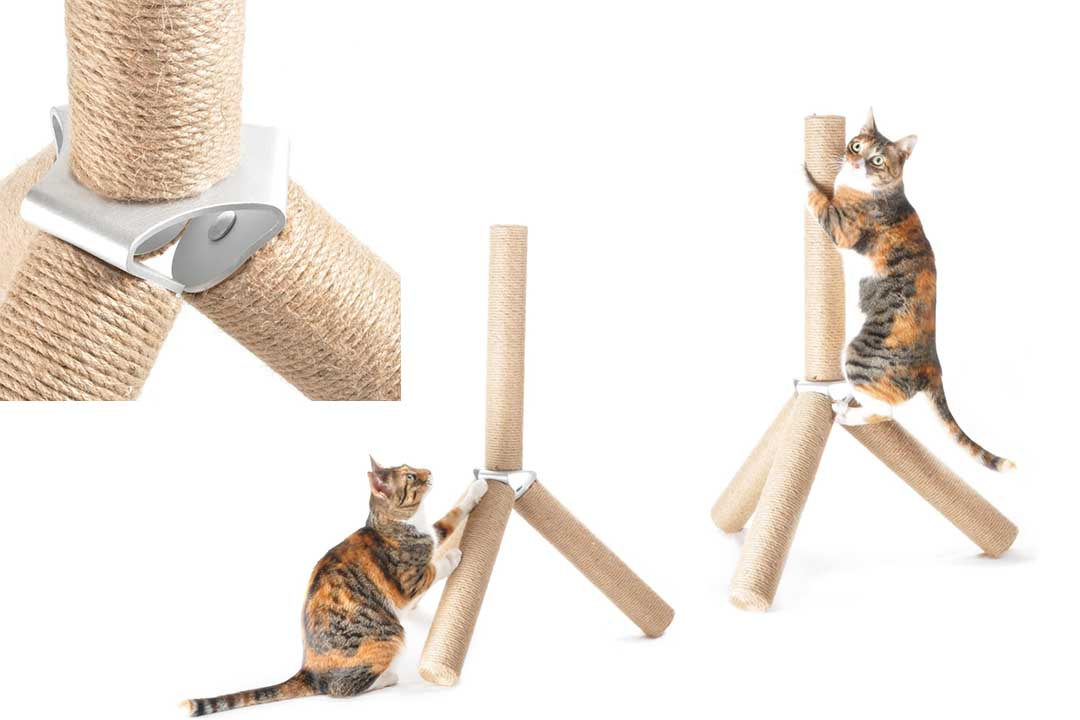 4claws Jute Tripod Scratching Post