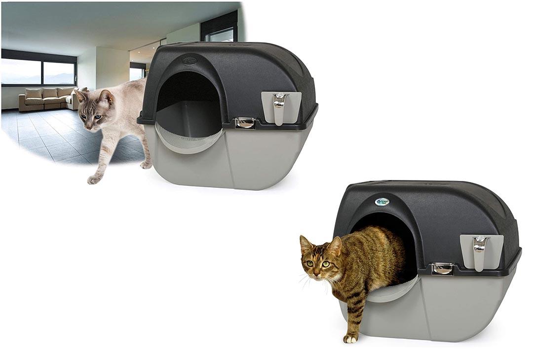 Elite Self-Cleaning Roll 'n Clean Litter Box from Omega Paw