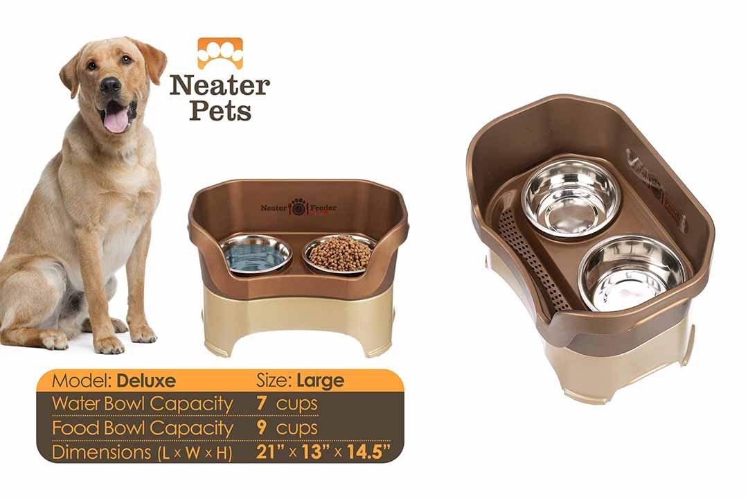 Neater Feeder Deluxe Dog the Mess Proof Elevated Bowls