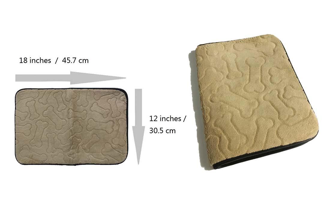 Rectangular Beige Mat