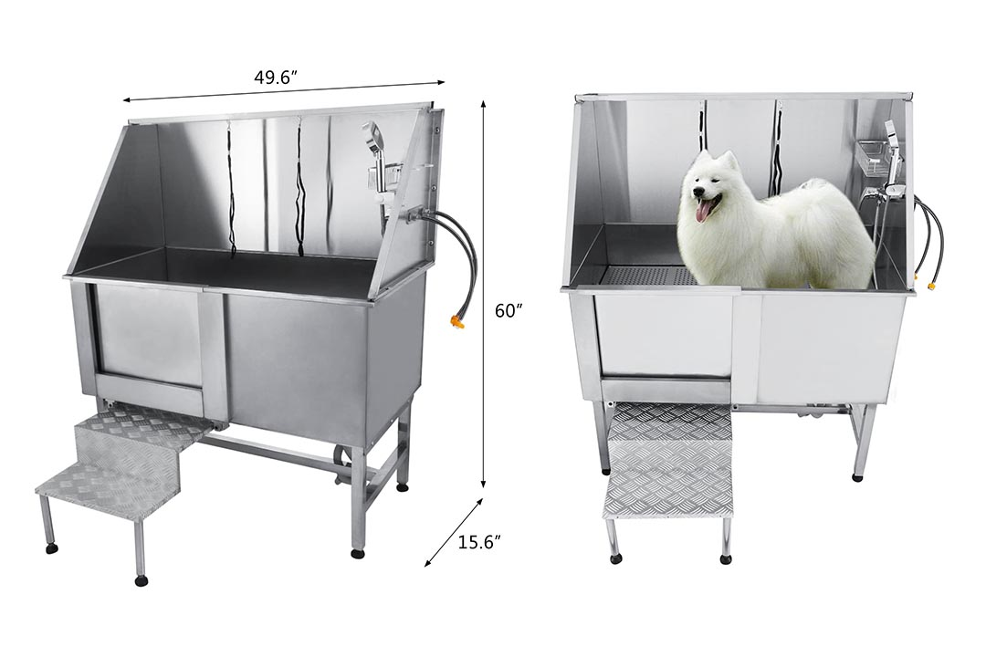 VEVOR 50 Inch Professional Stainless Steel Pet Grooming Tub