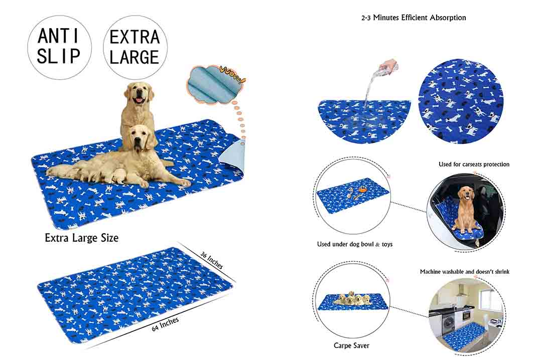 Yangbaga Washable Pee Pads for Dogs