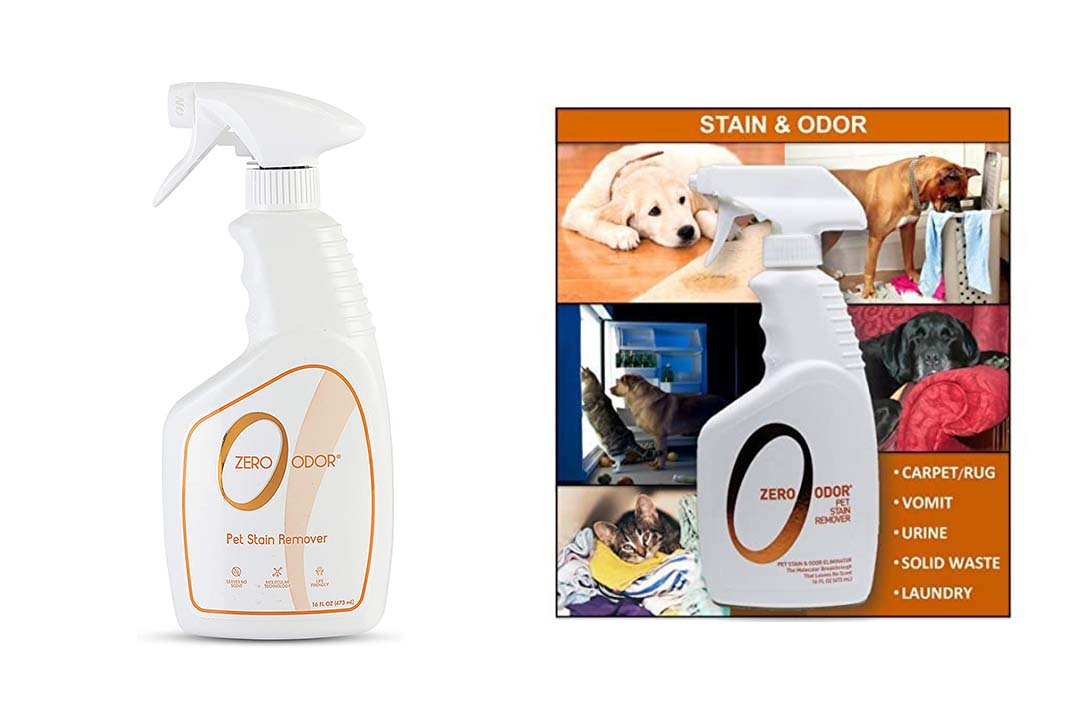 Zero Odor Pet Stain Remover and Molecular Odor Eliminator