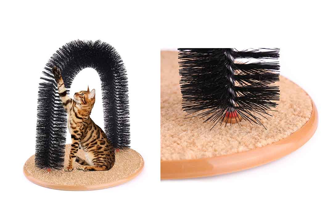 Cat Arch Self Groomer Massager Groom Toy by AikoPets