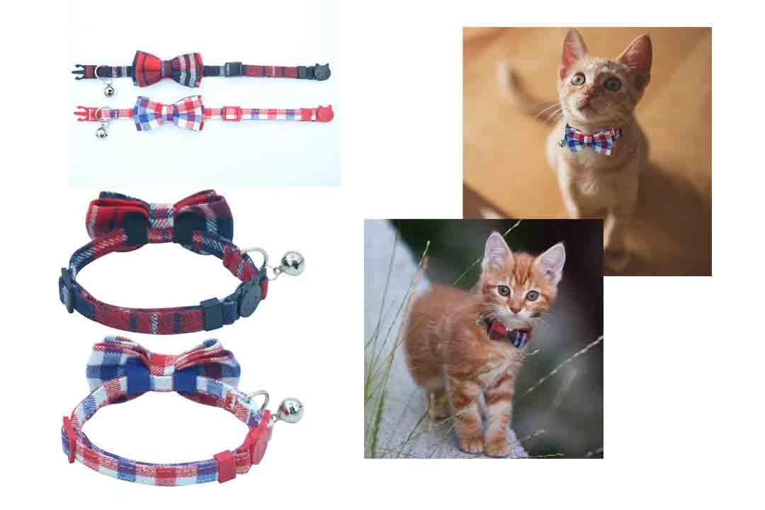 OFPUPPY Cute Bowtie Cat Collar