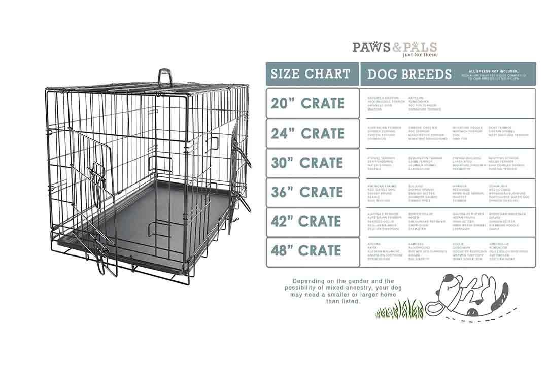 Paws & Pals Dog Crate Double-Door Folding Metal (XXL)