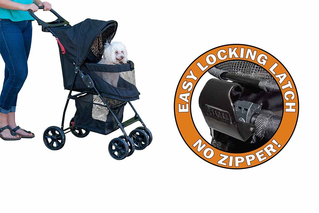 Pet Gear No-Zip Happy Pet Stroller for Dog/Cats (Trails Lite)