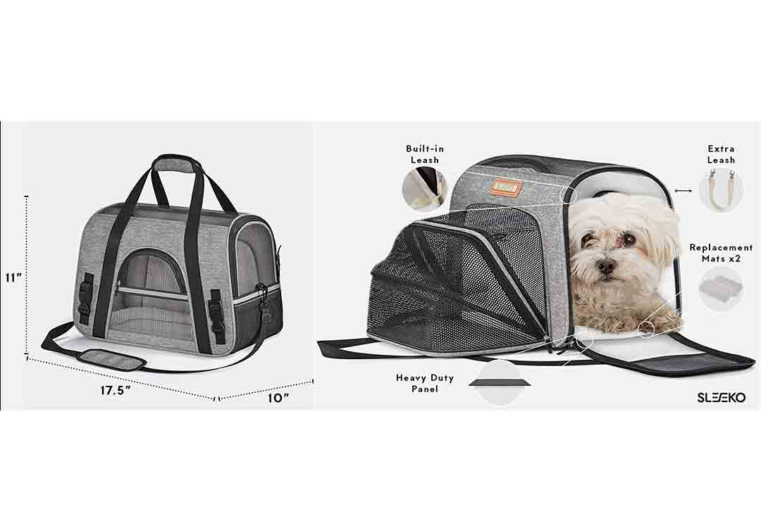 SLEEKO Luxury Pet Carrier Airline