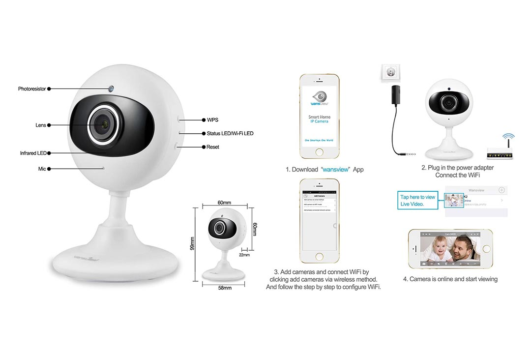 Wansview Wireless IP HD Camera