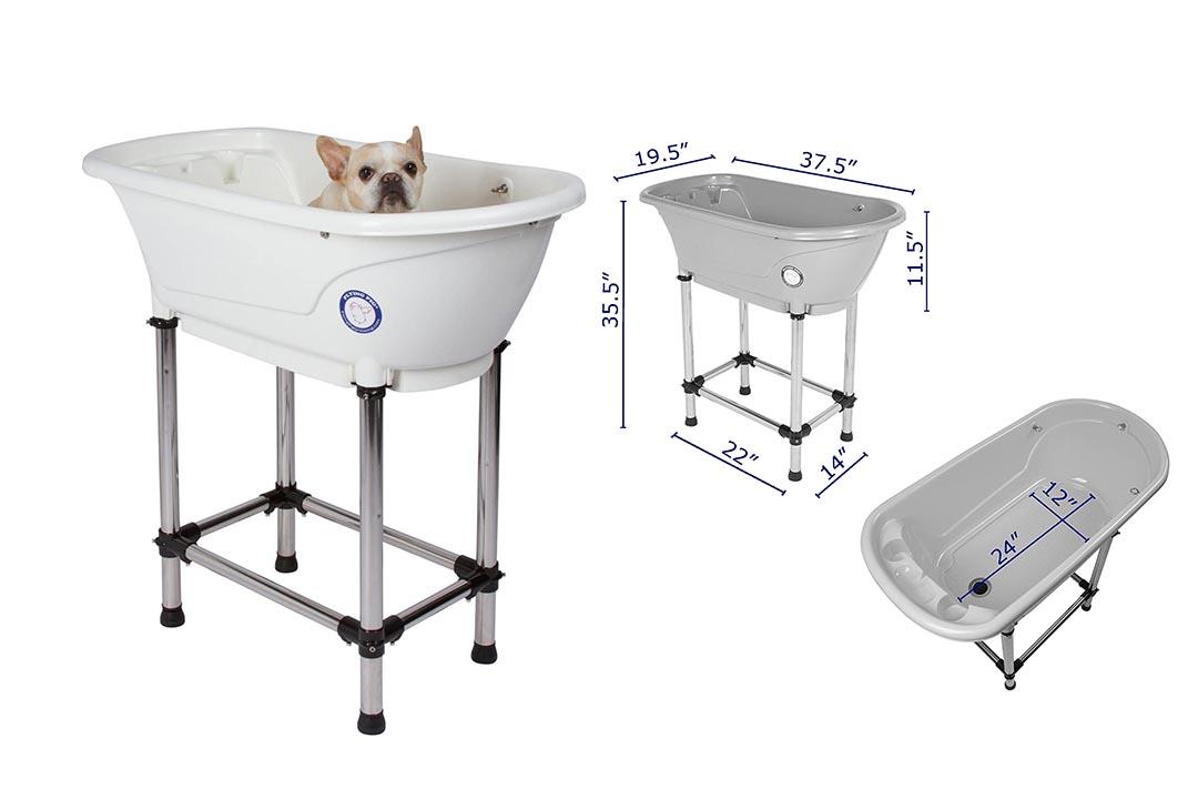 White Flying Pig Dog Portable Bath Tub