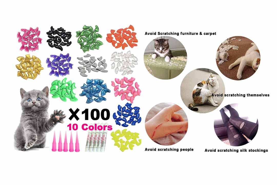 YMCCOOL 100pcs Cat Nail Caps