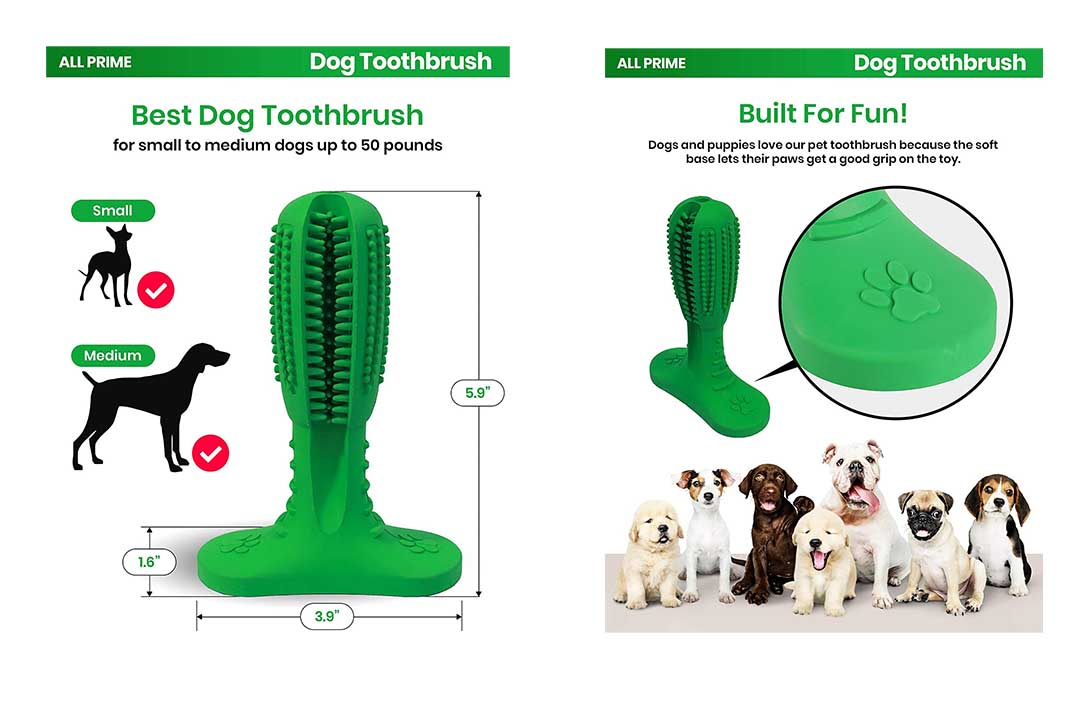 All Prime Dog Toothbrush Toy