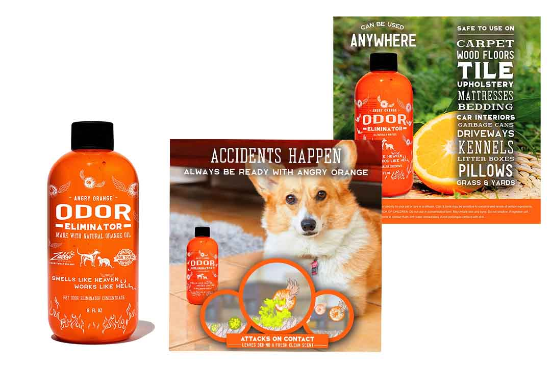 Angry Orange Pet Odor Eliminator 8 oz. bottle