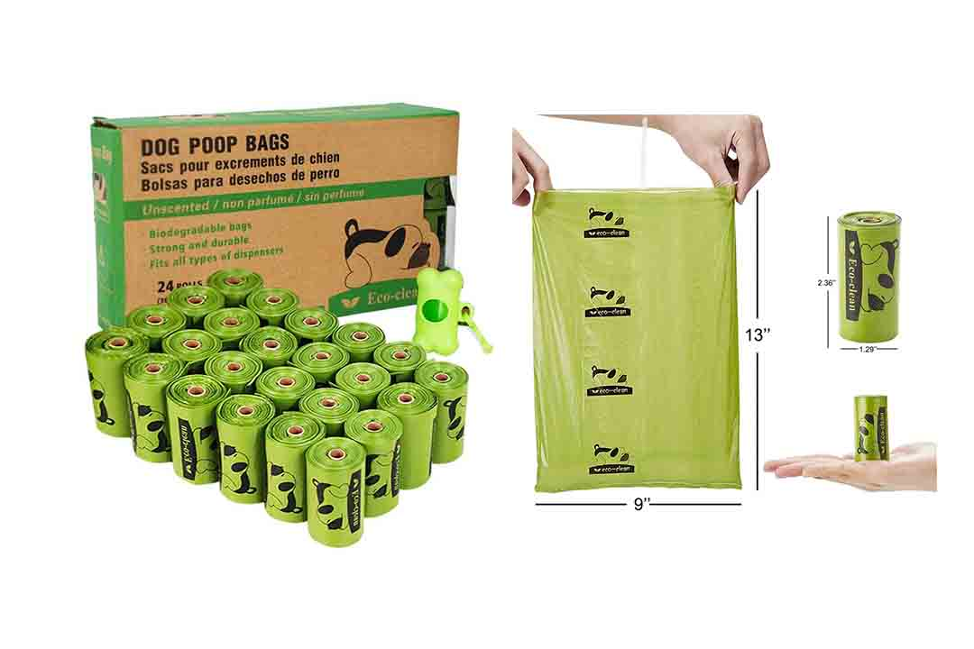 Eco-clean Poop Bags Biodegradable, 24 Rolls/360 Bags