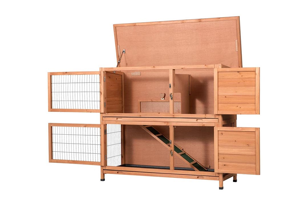GOOD LIFE Two Floors Wooden Bunny Hutch