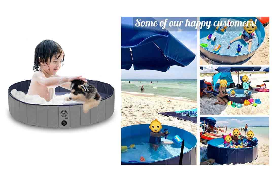 KOPEKS Round Heavy Duty PVC Outdoor Pool / Bathing Tub - Portable & Foldable