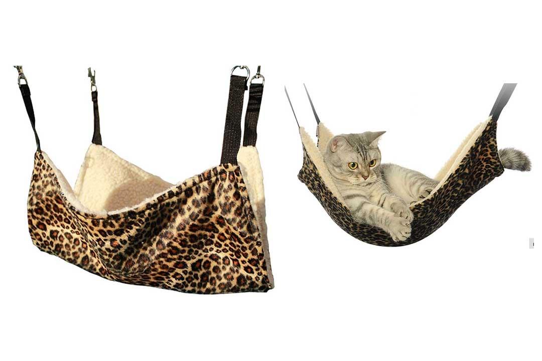 OCSOSO Cat Hammock Kitten Pet Cage Hammock Bed