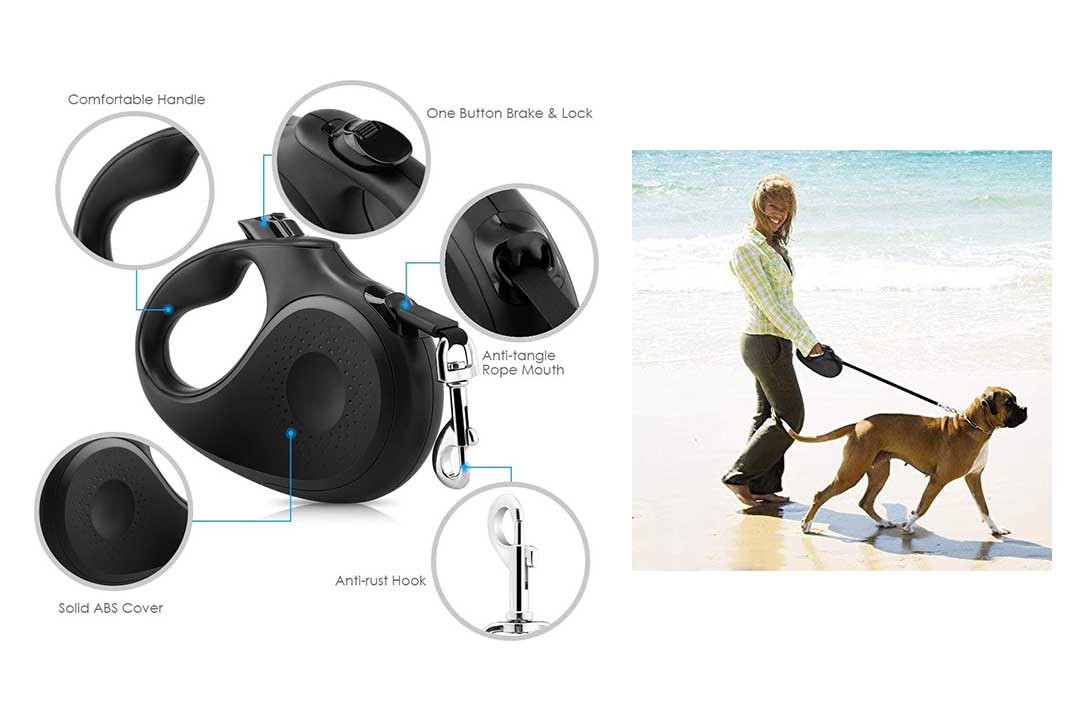 URPOWER Upgraded Retractable Dog Leash