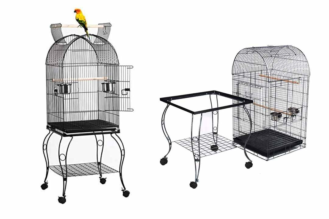 Yaheetech, 59 Inch Rolling, Stand Medium Dome Bird Cage
