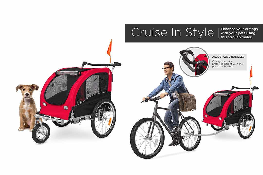 Best Choice Products Two-in-One Pet Stroller