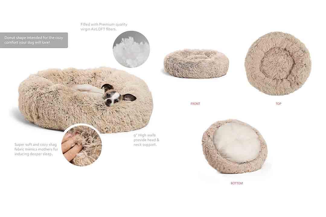 Best Friends by Sheri Luxury Shag Faux Fur Donut CuddlerBest Friends by Sheri Luxury Shag Faux Fur Donut Cuddler
